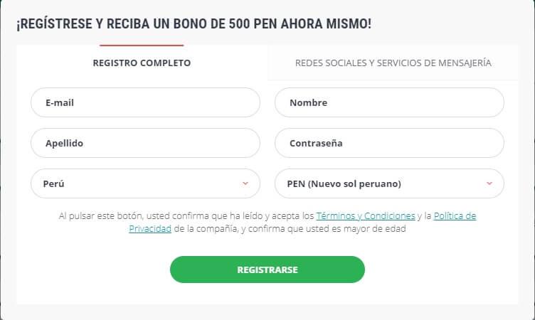 22bet Perú Registro