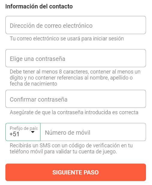LeoVegas Registro